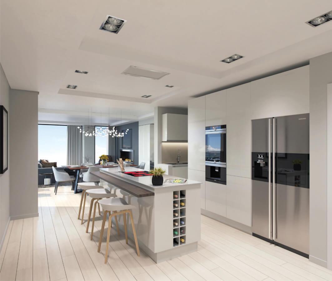Kitchen Macaron Blue Residence Investment Opportunities Prodigious