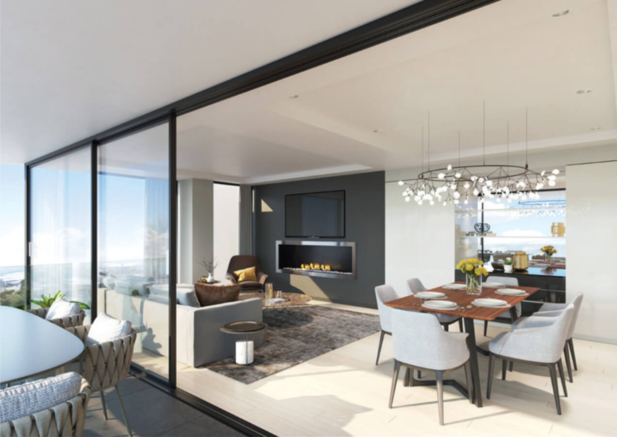 Lounge Macaron Blue Residence Investment Opportunities Prodigious